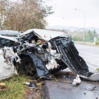Dangerous Car Accident Debris